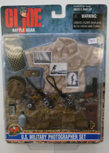 G. I.JOE Gijoe Battle Gear U. S. Military Photographer Set