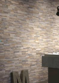 10 sqm - Beige Slate Split Face Effect Porcelain Wall Tile - 150x610
