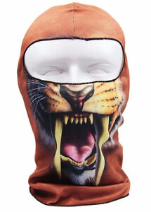 Tiger Face Balaclava Face Ski Mask