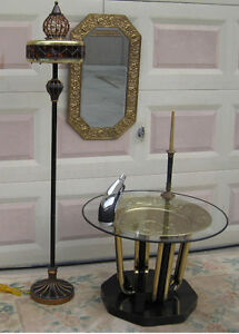 Unique Coffee Table and Lamp (70.00 Each)