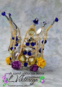 Handmade iridescent tiara NEW