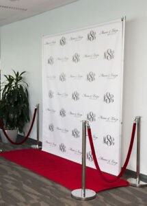 CUSTOM 10X8 RED CARPET PHOTO BOOTH BACKDROP