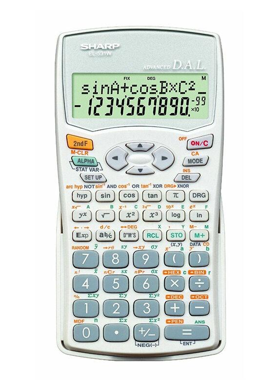 Sharp EL531WB-WH Scientific Calculator