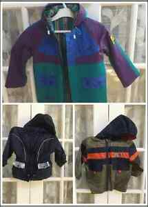 rain coat, winter snow suit, size available in 3, 4, 5, 6,