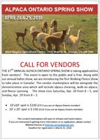 Vendor Opportunity at Alpaca Show