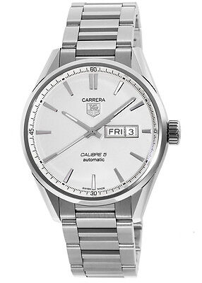 New Tag Heuer Carrera Calibre 5 Day-Date Automatic Men's Watch WAR201B.BA0723