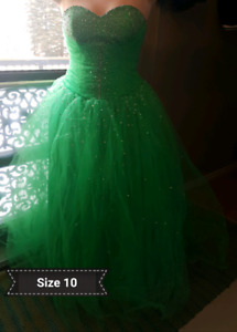 Evening gowns, bridesmaids, wedding gown
