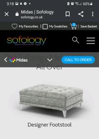 Sofology grey midas footstool