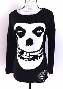 Iron Fist Misfits Knitted Crewneck Sweater Slouchy Punk Rock Med