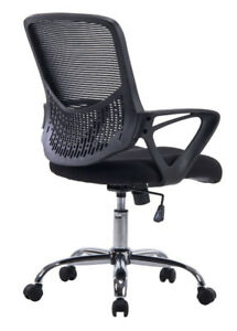 Brand New Angel Mid-Back Mesh Task Chair with Arms, Swivel & Til