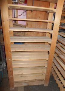 wooden shelving units  (2)
