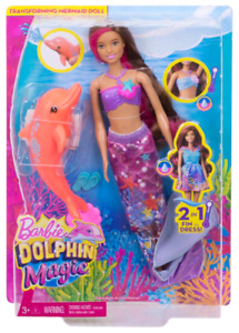 Barbie Dolphin Magic Transforming Fashion Doll - Mermaid