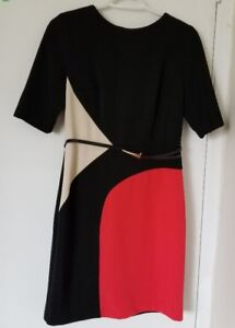White red and black colour dress, S size