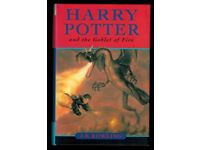 SIGNED Harry Potter & the Goblet of Fire first edition
