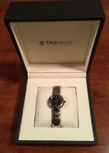 LADIES ~ TAG QTZ SS BLACK DIAL DIAMOND WATCH FOR SALE!