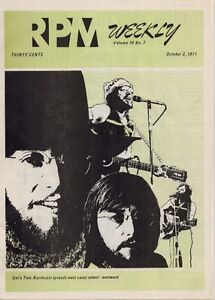 original vintage RPM WEEKLY Canadian Music Magazine 1971