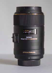Sigma 105mm f/2.8 EX DG OS HSM Macro for Nikon - Like New