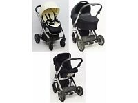 Babystyle Oyster Stroller with Carrycot & Car Seat -Vanilla Cream