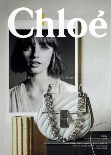 CHLOE 1-Page Magazine PRINT AD Spring Summer 2018 FRAN SUMMERS