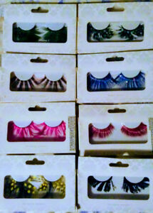 Halloween style false lashes 8pair, new in boxes