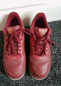 Red Nike Air Force 1 Limited Edition Size 6