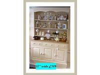 """Vintage painted 52"""" Welsh dresser"""