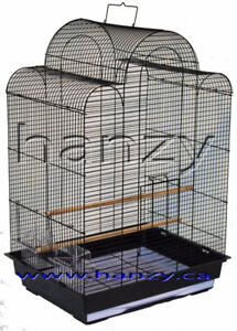 Grande cage blanche pour pinsons, perruches, canaries