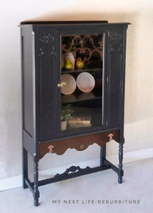 Refinished Jacobean cabinet