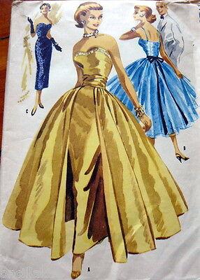 SEWING PATTERN DATE CHARTS 1950s - 1960 VOGUE ADVANCE +