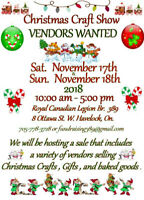 Christmas Craft Sale Vendors wanted