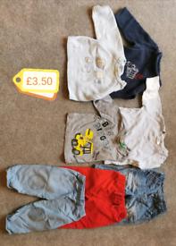 Bundle of boys 6-9 month clothes
