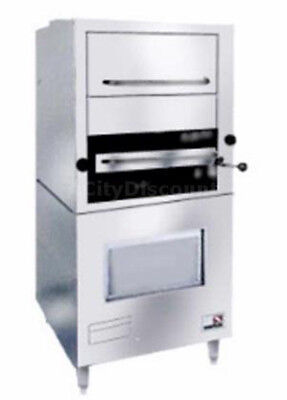 Southbend 171 34 Gas Upright Infrared Broiler With Warming Oven Stainless