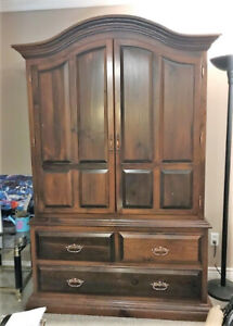 Gorgeous Solid Wood Armoire  (REDUCED) - LOGAN LAKE, B.C