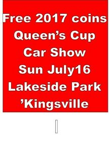 Queens Cup Car Show Sun July16  Kingsville-Buying Gold +Coins $$