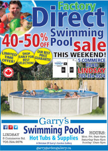 FACTORY DIRECT ABOVE-GROUND POOLS -  SAVE 40-50%