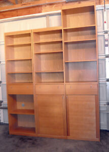Set of three bookshelves