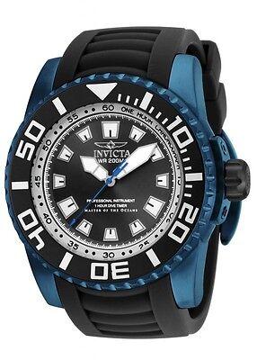 New Big Invicta 14667 Men's Pro Diver Black Dial Dive Sport Watch