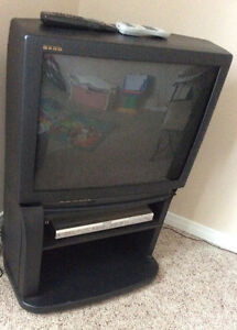 "25"" GAOO tv + DVD player + stand"