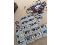 *SNES* console fully working order Vintage and many games!