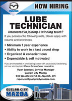 Tire and Oil Change Technician