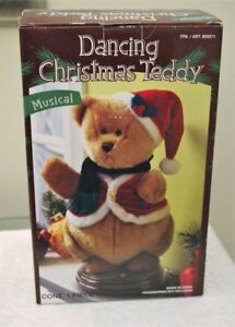 MUSICAL DANCING CHRISTMAS TEDDY BEAR NEW IN BOX
