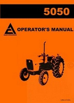 Allis Chalmers 5050 Tractor Owners Operators Manual Ac