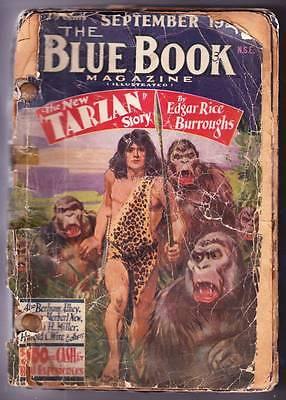 1929 Blue Book Pulp Compilation Tarzan At The Earths Core Edgar Rice Burroughs