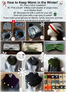 Handmade Crochet Scarves, Hats, Headbands and more!