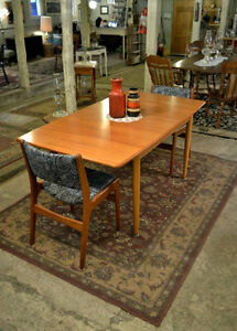 Mid Century Table with Leaf