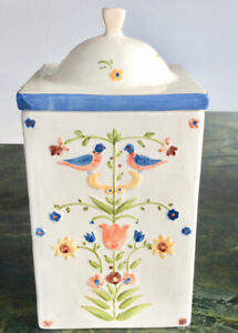 SET OF 4 KITCHEN CERAMIC CANISTERS