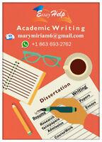 ESSAY HELP/ ACADEMIC TUTORING/PROOFREADING/RESUME WRITING