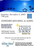 New Apostolic Chorale and Friends Concert and Sing-A-Long