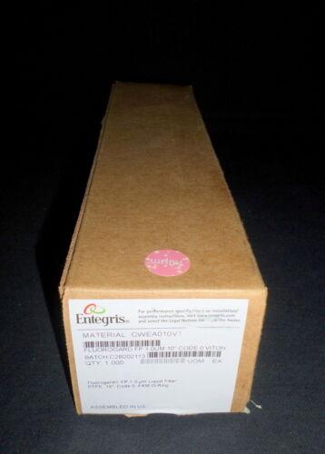 "Entegris 10"" Fluorogard Fp 1.0µm Ptfe Liquid Filter W/ Fkm O-ring, Cwea010v1"