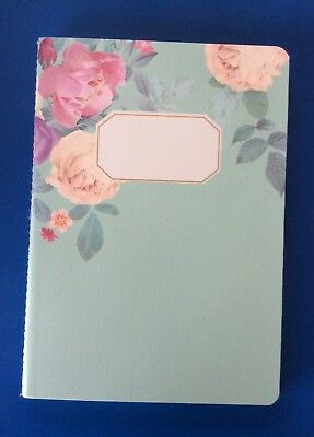 Modern Vintage Floral A5 Notebook, Lined, 30 Pages